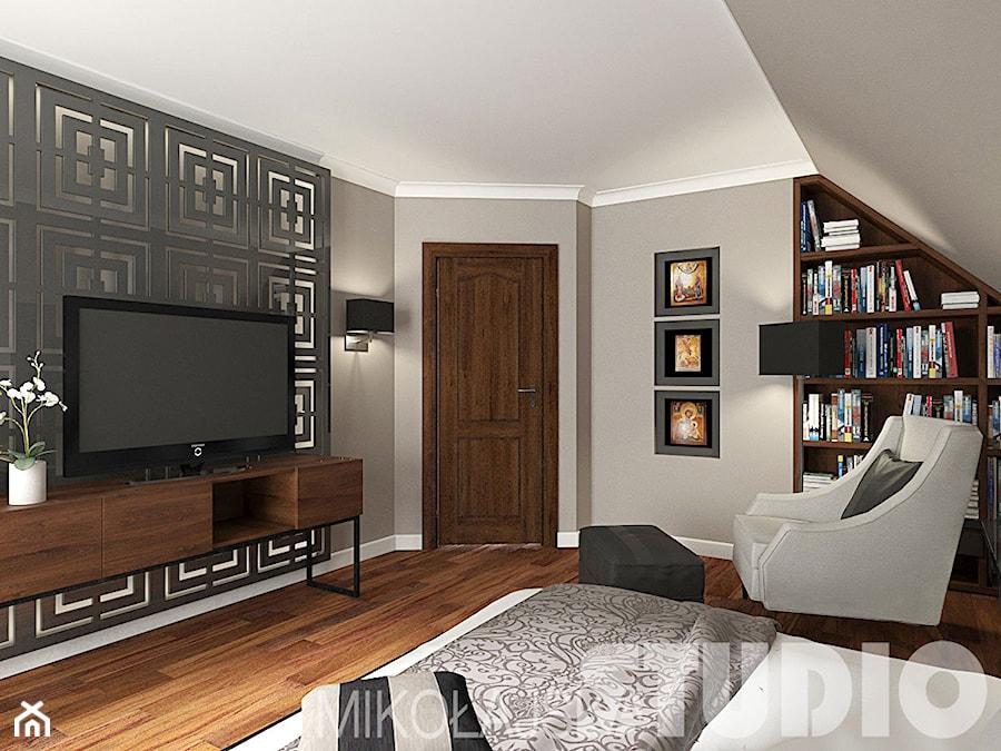 Aranżacje wnętrz - Sypialnia: Sypialnia w stylu kolonialnym - MIKOŁAJSKAstudio. Przeglądaj, dodawaj i zapisuj najlepsze zdjęcia, pomysły i inspiracje designerskie. W bazie mamy już prawie milion fotografii!