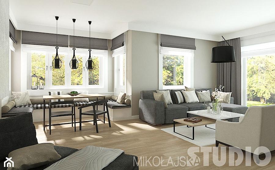 Salon w stylu skandynawskim  zdjęcie od MIKOŁAJSKAstudio -> Kuchnia I Salon W Stylu Skandynawskim
