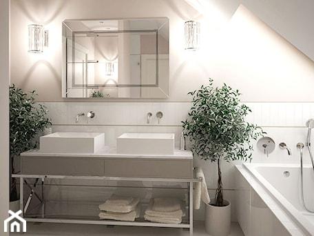 Aranżacje wnętrz - Łazienka: Elegancka łazienka - MIKOŁAJSKAstudio. Przeglądaj, dodawaj i zapisuj najlepsze zdjęcia, pomysły i inspiracje designerskie. W bazie mamy już prawie milion fotografii!