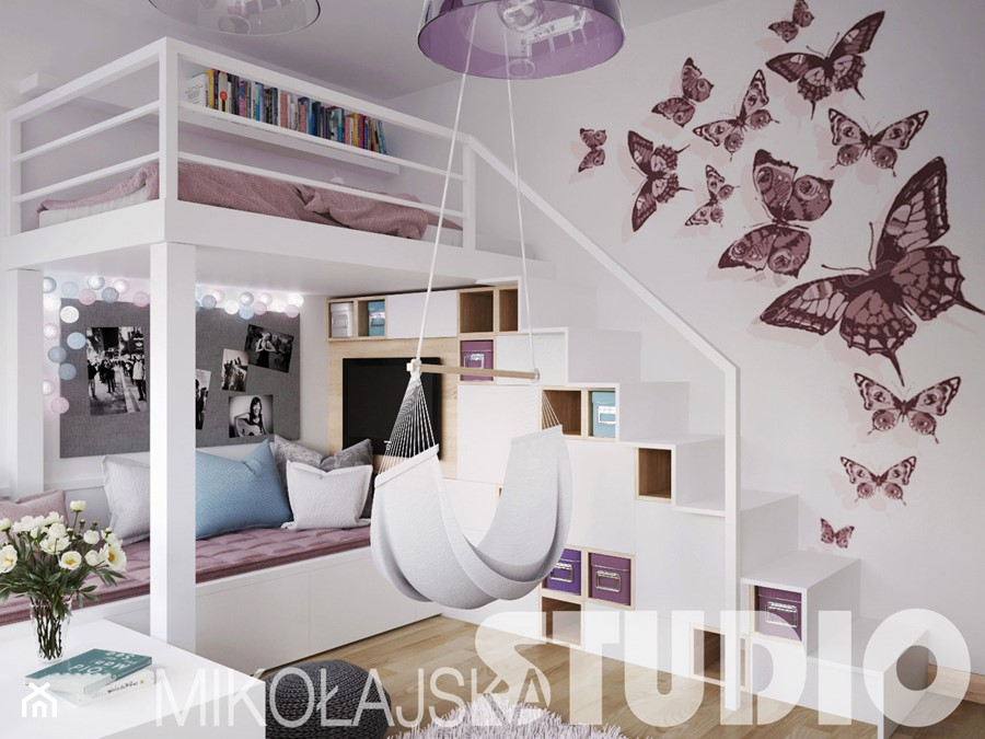 pok j dla dziewczynki z antresol zdj cie od miko ajskastudio homebook. Black Bedroom Furniture Sets. Home Design Ideas