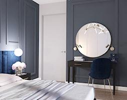 granatowo szara sypialnia - zdjęcie od MIKOŁAJSKAstudio