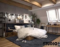 Apartament na strychu - Sypialnia, styl industrialny - zdjęcie od MIKOŁAJSKAstudio - Homebook