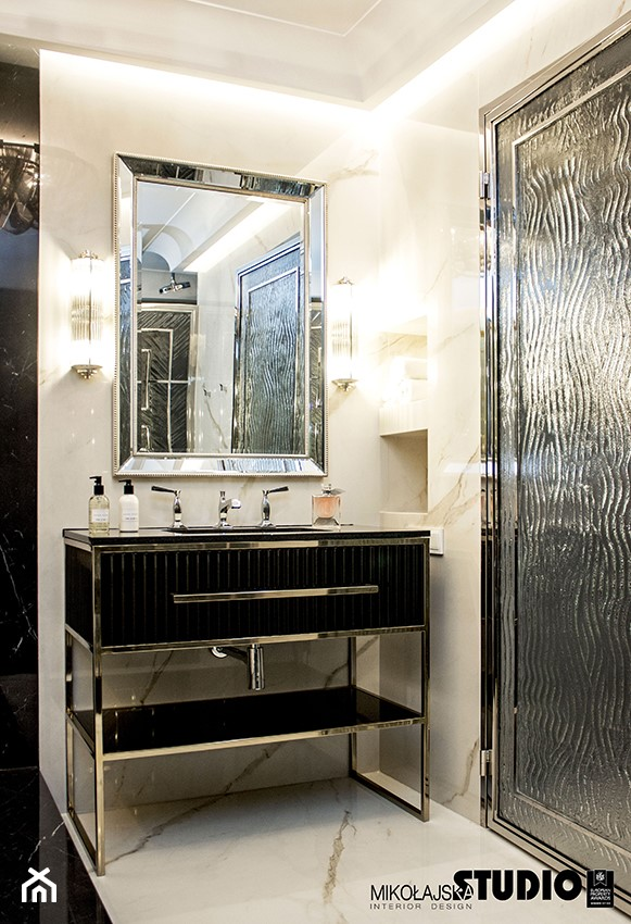 Zlota łazienka Piękna Szafka Pod Umywalkę Zdjęcie Od