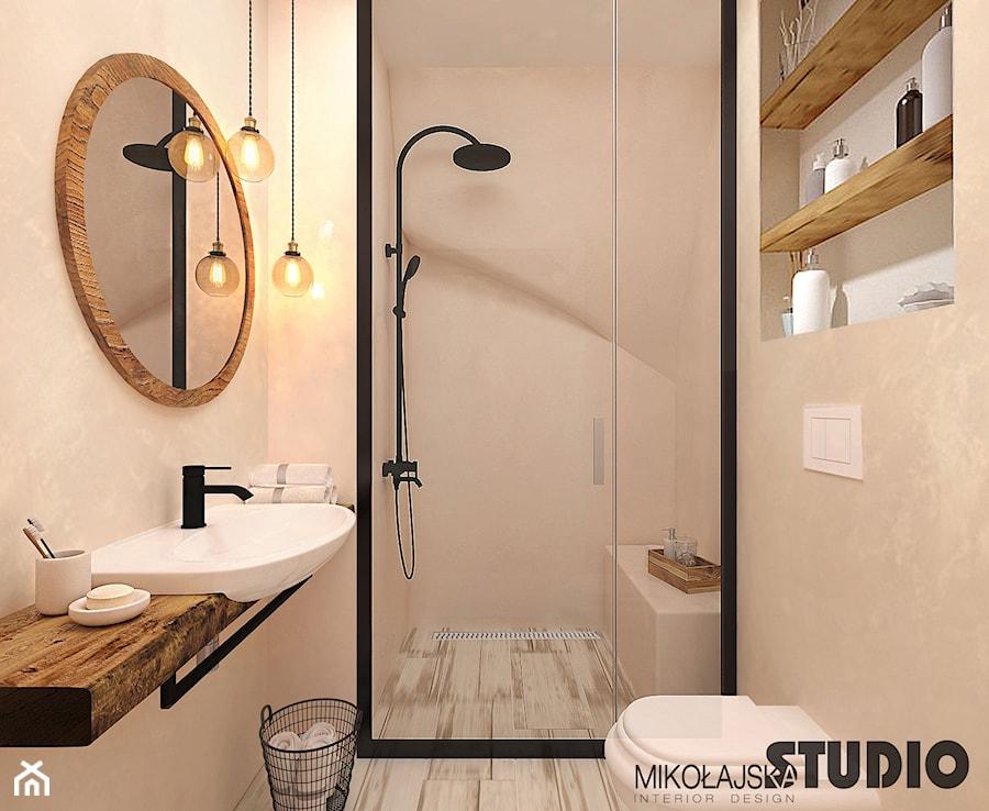 niewielka łazienka z prysznicem - zdjęcie od MIKOŁAJSKAstudio