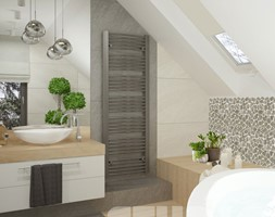 projekt łazienki z dużą wanną - zdjęcie od MIKOŁAJSKAstudio