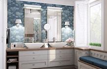 hamptons bathroom turquoise - zdjęcie od MIKOŁAJSKAstudio