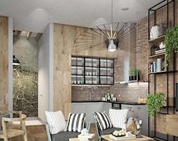 mieszkanie w drewnie, czarne akcenty - zdjęcie od MIKOŁAJSKAstudio