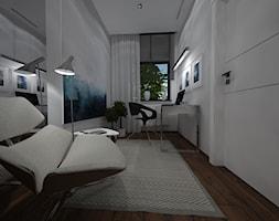 Nowoczesny segment w Gdyni - wersja II - Średnie białe biuro domowe kącik do pracy w pokoju, styl nowoczesny - zdjęcie od BAKRON PROJEKT