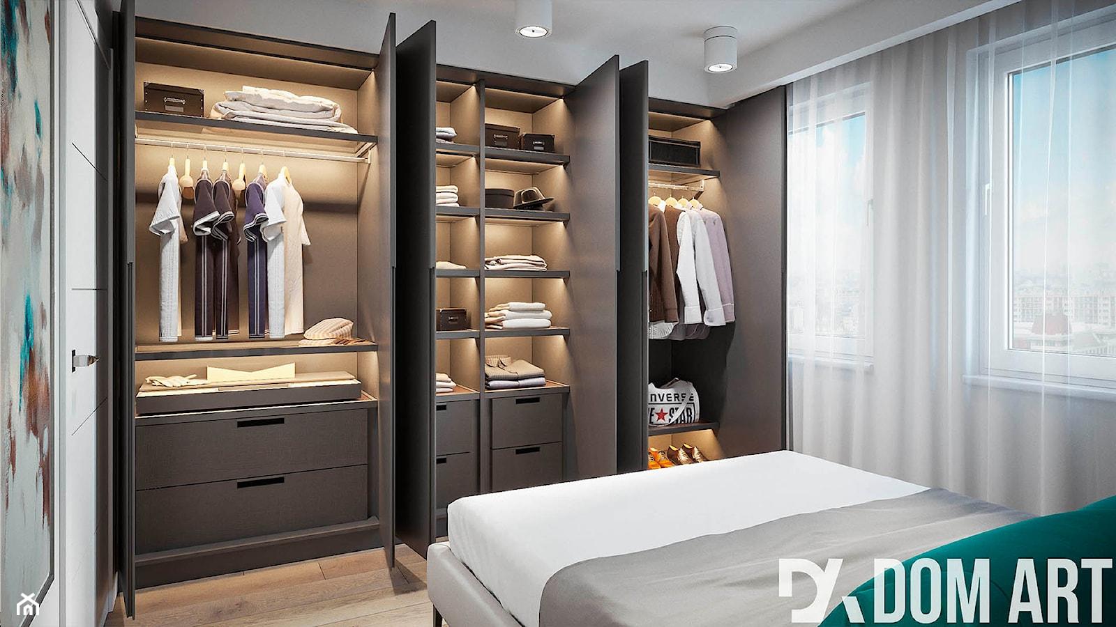 Minimalistyczne mieszkanie - Średnia sypialnia małżeńska, styl minimalistyczny - zdjęcie od Dom-Art - Homebook