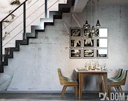 Dom w Katowicach - Mała otwarta szara jadalnia jako osobne pomieszczenie, styl industrialny - zdjęcie od Dom-Art