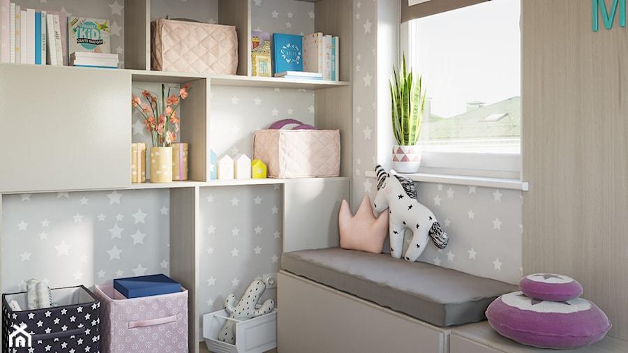 Aranżacje wnętrz - Pokój dziecka: Skandynawskie mieszkanie w Krakowie - Mały szary pokój dziecka dla chłopca dla malucha, styl minimalistyczny - Dom-Art. Przeglądaj, dodawaj i zapisuj najlepsze zdjęcia, pomysły i inspiracje designerskie. W bazie mamy już prawie milion fotografii!
