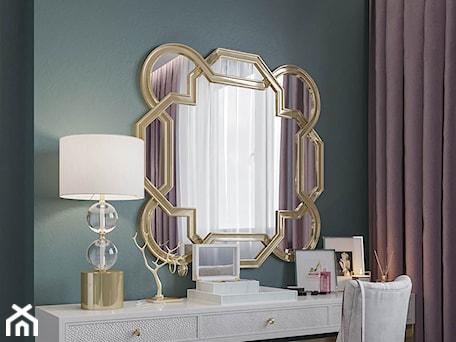 Aranżacje wnętrz - Sypialnia: Mieszkanie w stylu Glamour - Mała zielona sypialnia, styl glamour - Dom-Art. Przeglądaj, dodawaj i zapisuj najlepsze zdjęcia, pomysły i inspiracje designerskie. W bazie mamy już prawie milion fotografii!