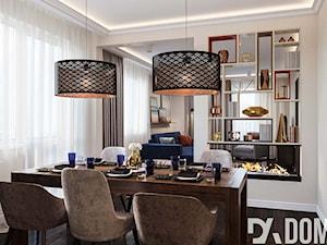 Klasyczne mieszkanie w Wieliczce - Średnia otwarta beżowa jadalnia jako osobne pomieszczenie, styl glamour - zdjęcie od Dom-Art