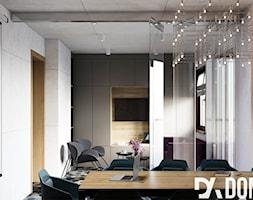Biuro Rumble Fish - Duże szare biuro pracownia w pokoju, styl nowoczesny - zdjęcie od Dom-Art