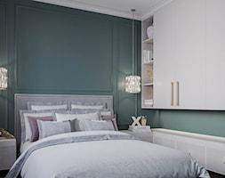 Mieszkanie w stylu Glamour - Mała zielona sypialnia małżeńska, styl glamour - zdjęcie od Dom-Art