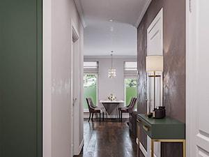 Mieszkanie w stylu Glamour - Średni biały brązowy zielony hol / przedpokój, styl glamour - zdjęcie od Dom-Art