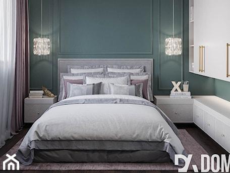 Aranżacje wnętrz - Sypialnia: Mieszkanie w stylu Glamour - Średnia zielona sypialnia małżeńska, styl glamour - Dom-Art. Przeglądaj, dodawaj i zapisuj najlepsze zdjęcia, pomysły i inspiracje designerskie. W bazie mamy już prawie milion fotografii!