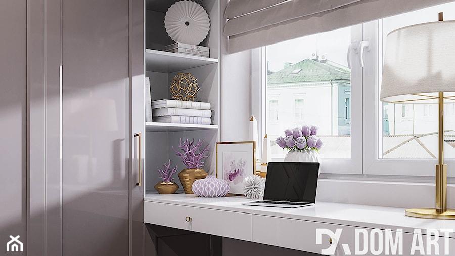 Mieszkanie w stylu Glamour - Garderoba z oknem, styl glamour - zdjęcie od Dom-Art
