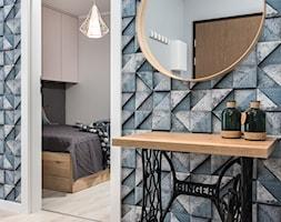 Skandynawskie Mieszkanie - Średni szary hol / przedpokój, styl skandynawski - zdjęcie od Dom-Art - Homebook