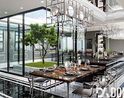 Apartament Art-Deco w Warszawie - Średnia jadalnia w kuchni, styl art deco - zdjęcie od Dom-Art