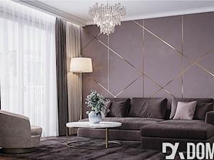 Mieszkanie w stylu Glamour - Średni brązowy salon, styl glamour - zdjęcie od Dom-Art