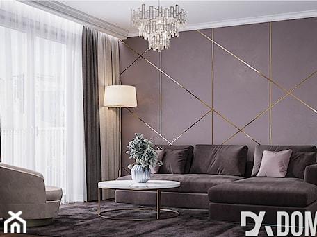 Aranżacje wnętrz - Salon: Mieszkanie w stylu Glamour - Średni brązowy salon, styl glamour - Dom-Art. Przeglądaj, dodawaj i zapisuj najlepsze zdjęcia, pomysły i inspiracje designerskie. W bazie mamy już prawie milion fotografii!
