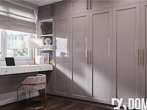 Mieszkanie w stylu Glamour - Duża garderoba z oknem, styl glamour - zdjęcie od Dom-Art