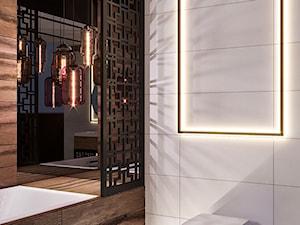 Projekt łazienki dla CeramCity - Mała biała łazienka na poddaszu w bloku w domu jednorodzinnym bez okna, styl nowoczesny - zdjęcie od Dom-Art