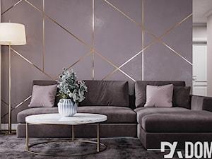 Mieszkanie w stylu Glamour - Średni szary salon, styl glamour - zdjęcie od Dom-Art