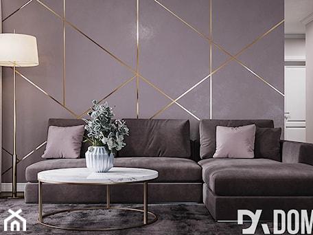 Aranżacje wnętrz - Salon: Mieszkanie w stylu Glamour - Średni szary salon, styl glamour - Dom-Art. Przeglądaj, dodawaj i zapisuj najlepsze zdjęcia, pomysły i inspiracje designerskie. W bazie mamy już prawie milion fotografii!