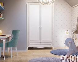Mieszkanie na poddaszu w Olkusz - Średni szary miętowy pokój dziecka dla chłopca dla dziewczynki dla ucznia dla malucha dla nastolatka, styl eklektyczny - zdjęcie od Dom-Art