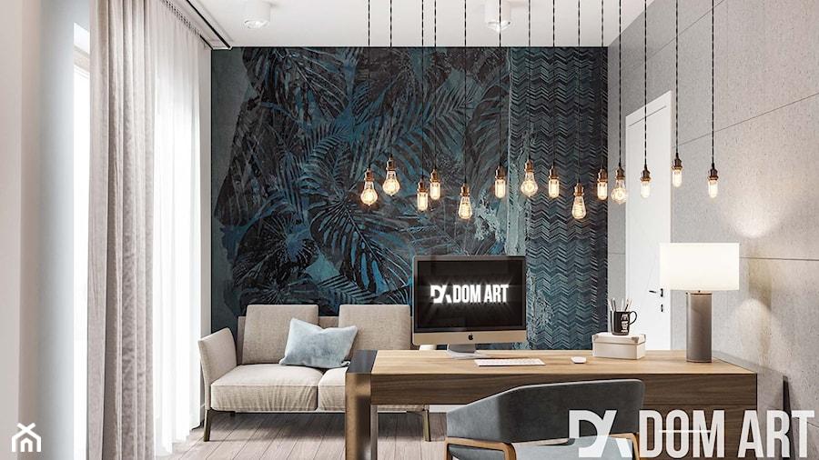 Eko-Dom w Świątnikach Górnych - Średnie szare biuro domowe kącik do pracy w pokoju, styl skandynawski - zdjęcie od Dom-Art