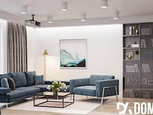 Minimalistyczne mieszkanie - Mały biały salon, styl minimalistyczny - zdjęcie od Dom-Art