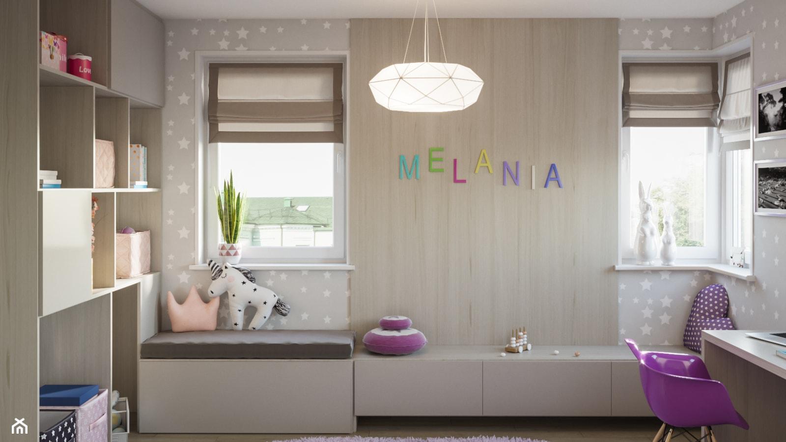 Skandynawskie mieszkanie w Krakowie - Mały szary pokój dziecka dla dziewczynki dla ucznia dla malucha dla nastolatka, styl skandynawski - zdjęcie od Dom-Art - Homebook