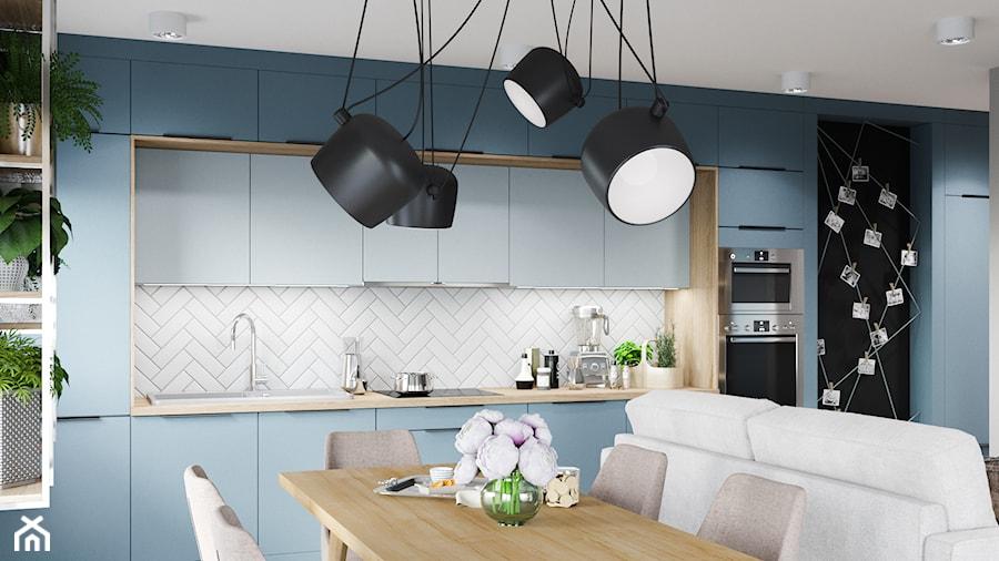 Skandynawskie mieszkanie w Krakowie - Średnia otwarta kuchnia jednorzędowa, styl skandynawski - zdjęcie od Dom-Art