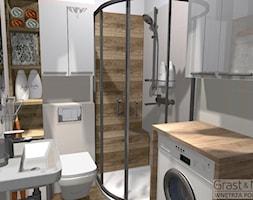 Mini_lazienka - Mała biała łazienka w bloku w domu jednorodzinnym bez okna - zdjęcie od Grast&MTB