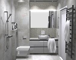 Monolityczka_lazienka - Średnia łazienka w bloku w domu jednorodzinnym bez okna - zdjęcie od Grast&MTB