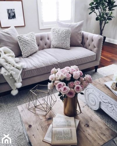 Wn trze w stylu hygge ideabook u ytkownika furdeko - Romantic living room ideas for feminine young ladies casa ...