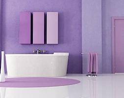 Fioletowa łazienka - zdjęcie od Homebook.pl
