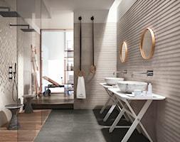 Materiały Partnerów - Duża biała łazienka jako salon kąpielowy jako domowe spa, styl nowoczesny - zdjęcie od Homebook.pl