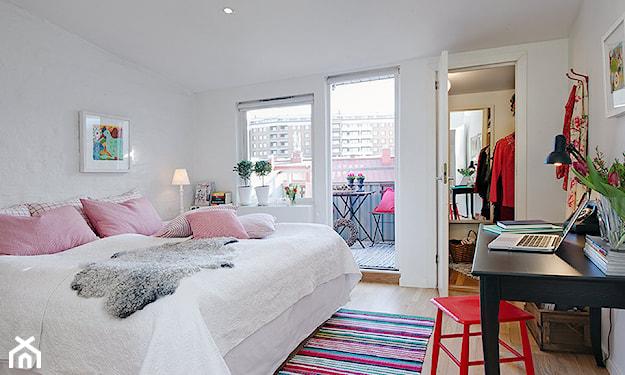 kobieca sypialnia w stylu skandynawskim