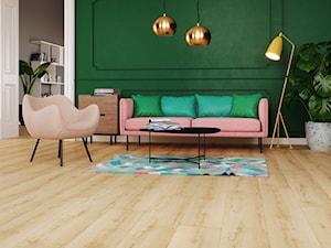 Trendbook MORE THAN TWENTY - Średni biały zielony salon, styl eklektyczny - zdjęcie od Homebook.pl