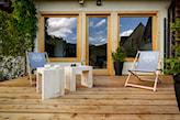 domek w górach w stylu skandynawskim
