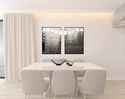 DOM W ZABUDOWIE BLIŹNIACZEJ POD KOSZALINEM 2018 - Średnia zamknięta szara jadalnia jako osobne pomieszczenie, styl nowoczesny - zdjęcie od INTERJO projektowanie wnętrz i grafiki