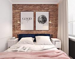 MIESZKANIE W KWIDZYNIE 2018 - Średnia biała sypialnia małżeńska, styl eklektyczny - zdjęcie od INTERJO projektowanie wnętrz i grafiki