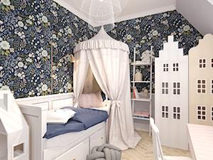 MIESZKANIE W KWIDZYNIE 2018 - Średni biały beżowy czarny kolorowy pokój dziecka dla dziewczynki dla malucha, styl eklektyczny - zdjęcie od INTERJO Projektowanie Wnętrz