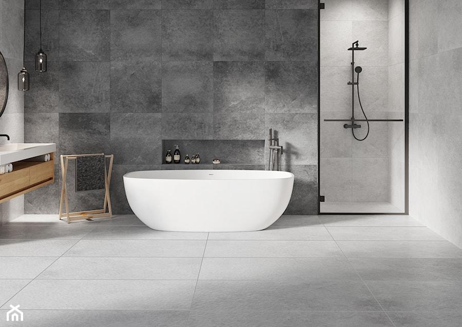 Kolekcja Tacoma - Średnia łazienka w bloku w domu jednorodzinnym bez okna, styl industrialny - zdjęcie od Cerrad