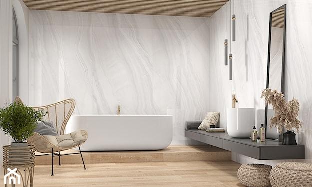 jasna łazienka, łazienka z drewnem