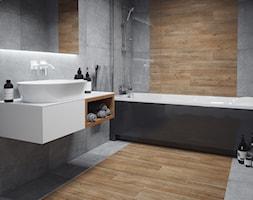 Kolekcja Laroya - Średnia łazienka w bloku w domu jednorodzinnym bez okna, styl industrialny - zdjęcie od Cerrad