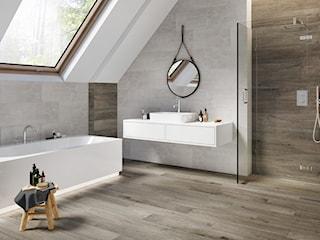 Z czym łączyć płytki inspirowane betonem? Zobacz nowoczesne aranżacje łazienek